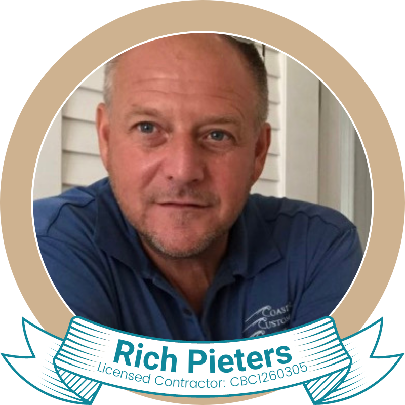 Rich Pieter is the owner of Coastal Custom Construction of Englewood, Florida